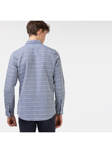 Lacoste Erkek Slim Fit Gömlek CH0102.02G Gri